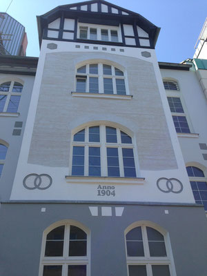 Historische Stuckfassade in Düsseldorf