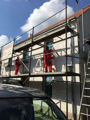 Wiederherstellung einer historischen Quaderfassade in Duisburg Bare