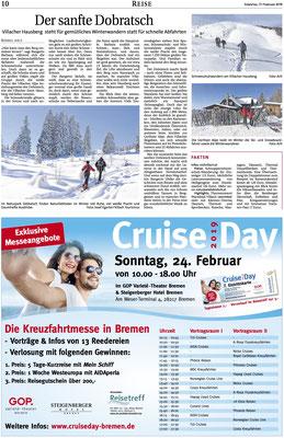 Schneeschuhwandern - Naturpark Dobratsch - Weser Report (Februar 2019)
