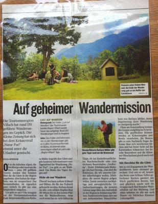 NaturPur - Essbare Landschaft am Faakersee - Kleine Zeitung (Juni 2014)