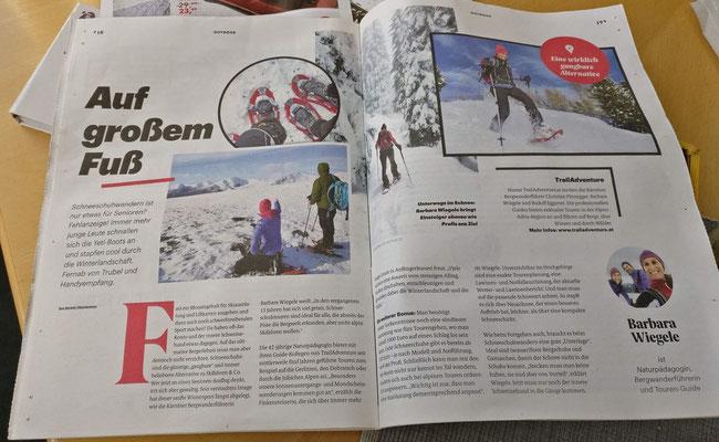 Schneeschuhwandern in Kärnten - Kleine Zeitung (Jänner 2018)