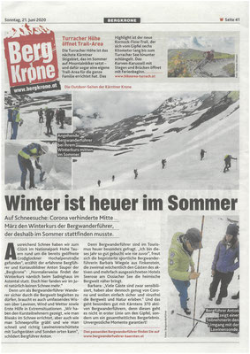 Winter ist diesmal im Sommer - Bergkrone (Juni 2020)