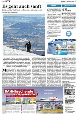 Schneeschuhwandern im Naturpark Dobratsch - Nürnberger Nachrichten (März 2019)