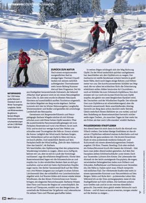 Schneeschuhwandern im Naturpark Dobratsch - Ski Magazin (Jänner 2020)