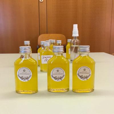 """Unser hautpflegendes Körperöl; Projekt """"Kärntner Landschönheit"""""""