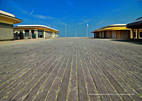 Strandzugang in Deauville