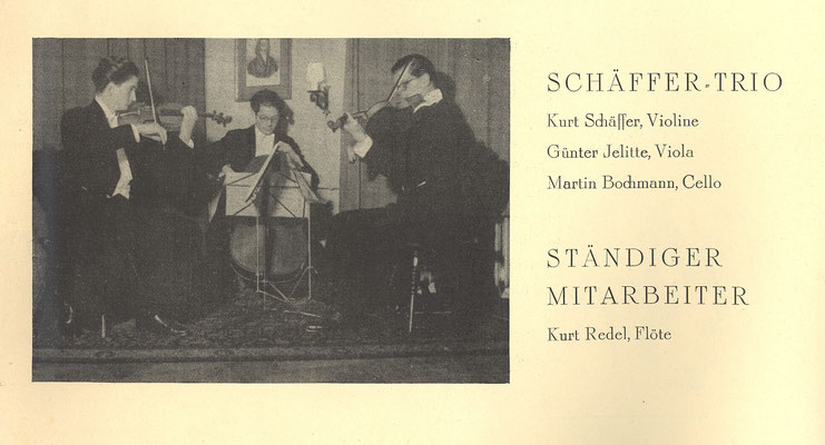 Schäffer Trio, 30er Jahre Salzburg