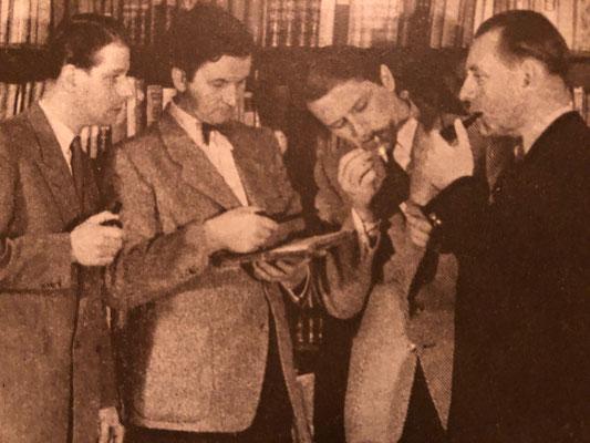 Schäffer Quartett in den 1950er Jahren mit Kurt Schäffer, Franzjosef Maier, Franz Beyer, Kurt Herzbruch