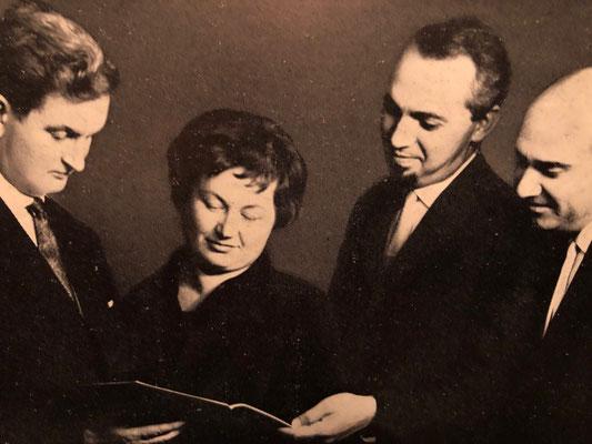 Schäffer Quartett in den 1960er Jahren mit Kurt Schäffer, Maria Szabados, James Pataki, Zoltan Racz