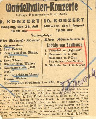 Wiederbegründung des Orchesters in Bad Reichenhall 1945