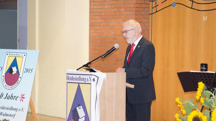 Wir danken Wolf Rosenzweig, Bürgermeister, für seine Rede zum 60 jährigem Jubiläum