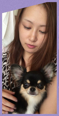 "Yurika with her puppy ""Lily"""