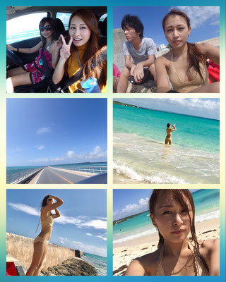 on holiday at Ishigaki shima with her Mama Rie and her brothers. This is Kazuki, the younger brother