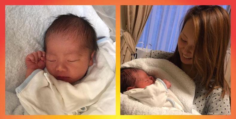 Willkommen! Um 10:36 (JST) kam Yuito zur Welt. Unsere Akkyan wurde Mama!