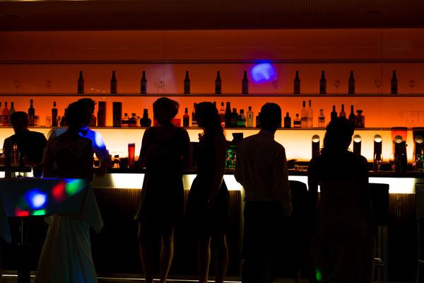 Hochzeit, party, shooting, bar, trinken, getränke, orange, shilouette