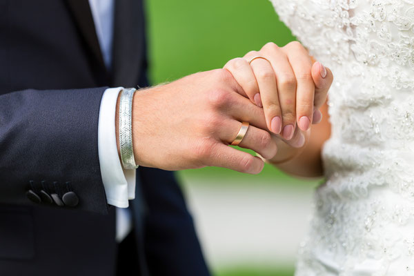 Hochzeit, Ring, Hochzeitsring, verheiratet, Hand, Hände, vertrauen, Sicherheit, liebe, Mann Frau, Braut, Bräutigam