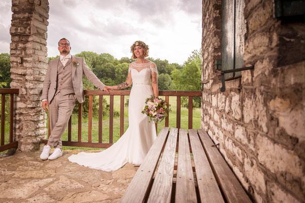 Brautpaar, shooting, hochzeit, Bilder, Fotograf, mediterran, Bank, perspektive, warm