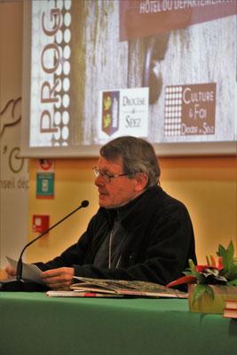 """Mgr Gilbert Louis, évêque émérite de Chalons en Champagne, responsable de l'antenne """"Culture et foi"""" du diocèse de Séez"""