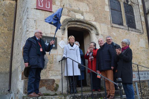 Dévoilement de la plaque à l'église st Ouen de Verrières