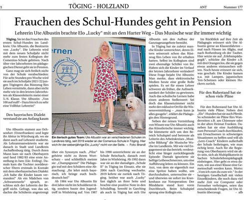 03.08.2021 - Frauchen des Schul-Hundes geht in Pension - pnp
