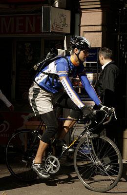 Fahrradkurier in Frankfurt