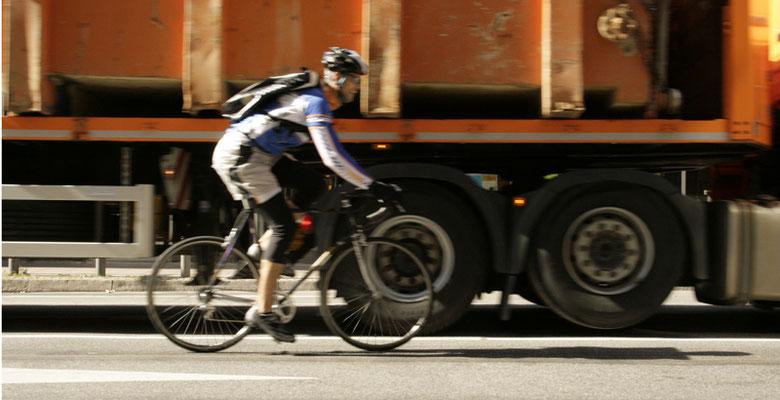 Fahrradkurier Frankfurt Verkehr