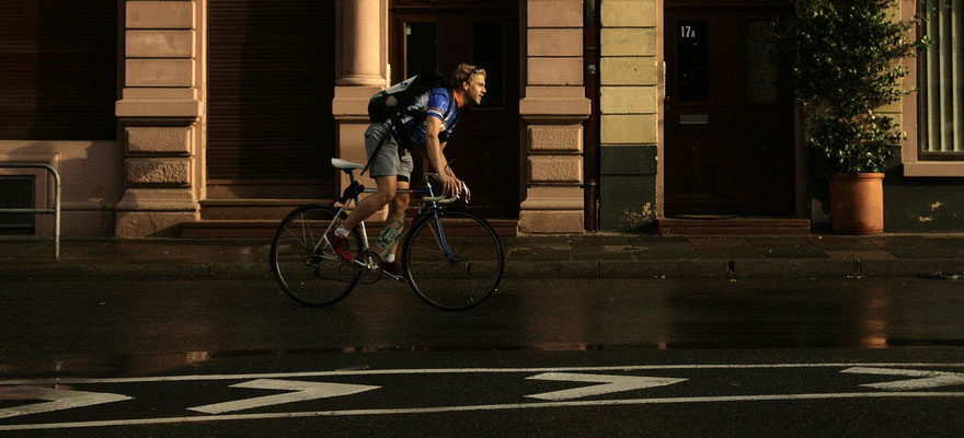 bike courier in Frankfurt