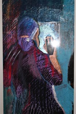 la  Peintre a l'asile 1991, hommage a Camille Claudel