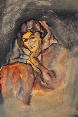 vielle femme d'après Picasso 1987