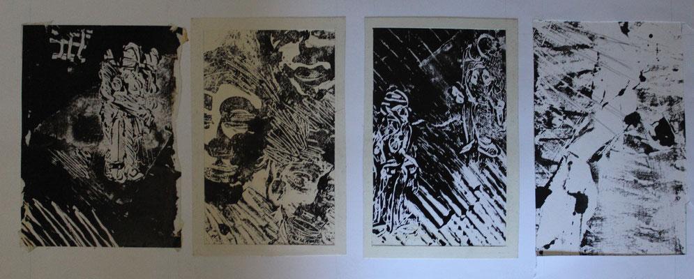 monotypes, st Ouen, 1987