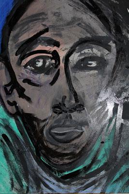 Bernard  après Auschwitz, mon grand oncle sunder-komando,  2014, 70 x 55 cm