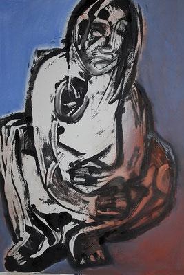 Femme, 70 x  55 cm