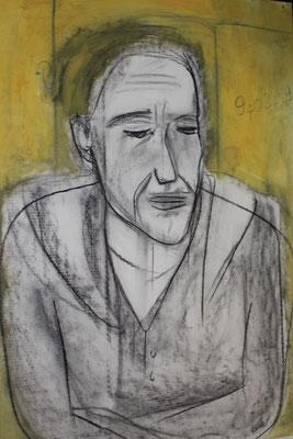 Le poète sans racines, 2019, 120 x 75 cm