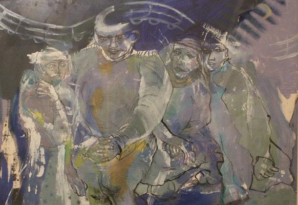 Churchil et ses enfants, 2007, 120 x 75 cm
