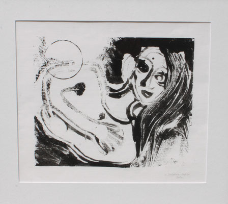 certificat de débilité mentale et d'idéation picturale, la chesnaie 1991, 2007 55 x 50 cm