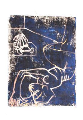 Bleu 20012, 120 x 75 cm