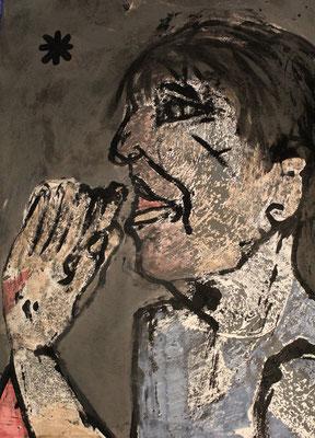la théories des gênes  nazis, Le voeux d'éric, 2019 - 115 x 77 cm