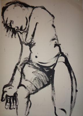 La douleur, 2012, 70 x 55 cm