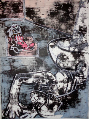 Nu à la poupée, 2012, 120 x 75 cm