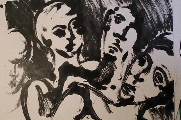 Groupe, 2008,  70 x 55 cm