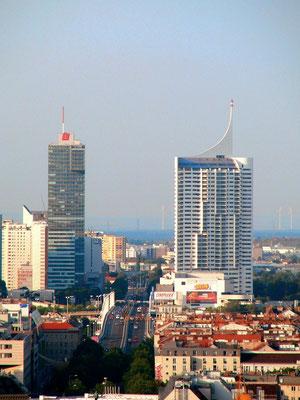 Blick von der Türmerstube bis zur Donau-City