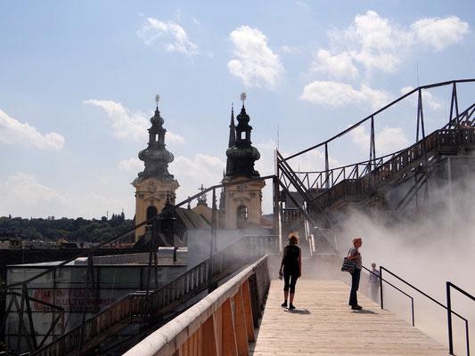 Nebelschwaden im Sommer