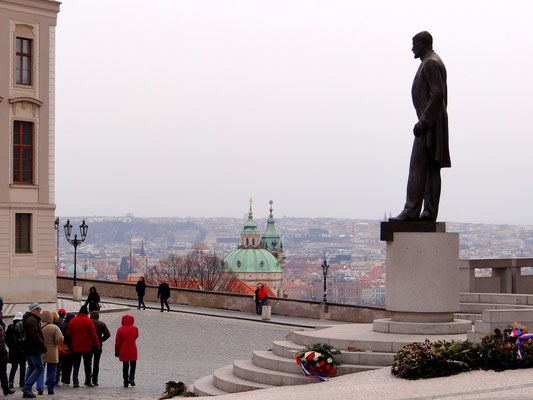 Denkmal des ersten Präsidenten Tomáš Garrigue Masaryk - Gründer der Tschechoslowakei