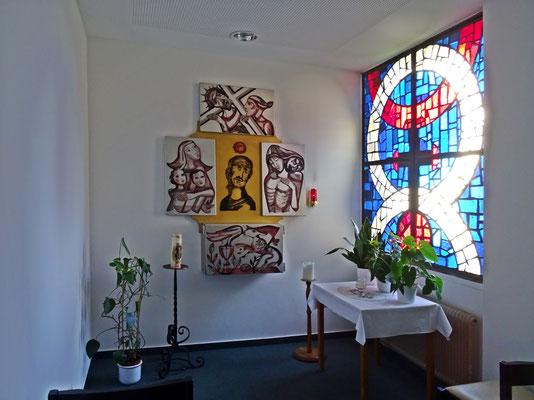 in der Kapelle des Altenheimes