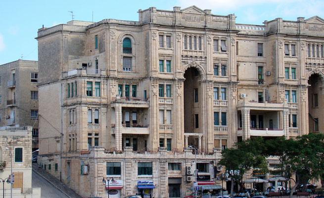 Balluta Building-eines der schönsten Häuser Maltas im Stil des Edwardianismus