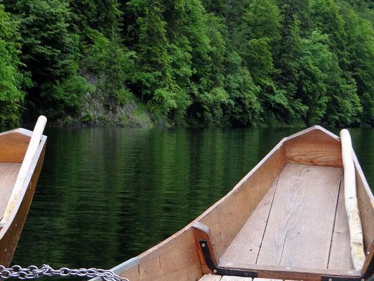 Fahrt auf dem Toplitzsee mit einer Plätte