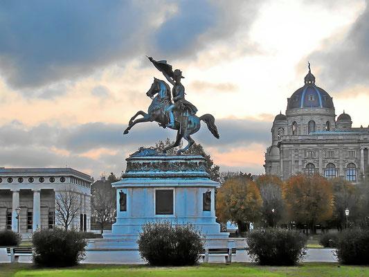 Erzherzog Karl Reiterdenkmal auf dem Heldenplatz