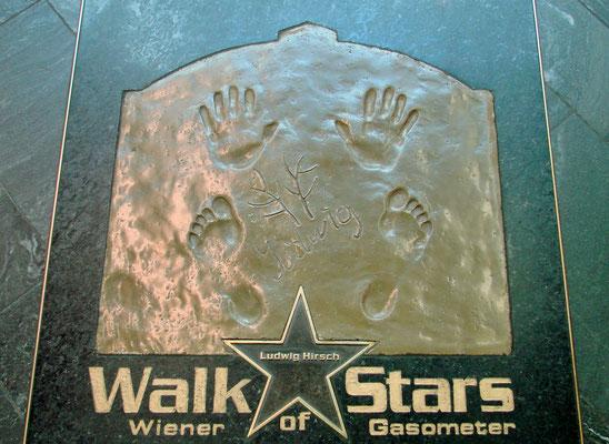 auch Stars wurden hier verewigt - Ludwig Hirsch leider nicht mehr am Leben