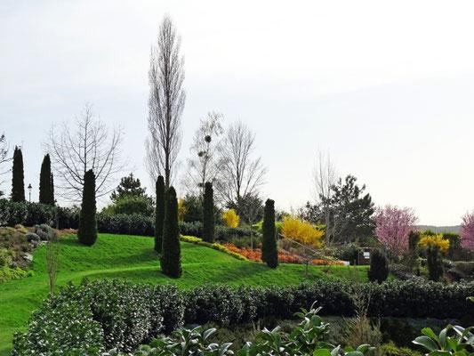 der Frühling im Hotelgarten