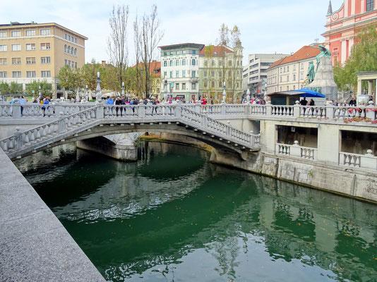Drei Brücken von Jože Plečnik